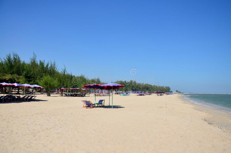 Meubilair op het Strand van Cha am royalty-vrije stock foto