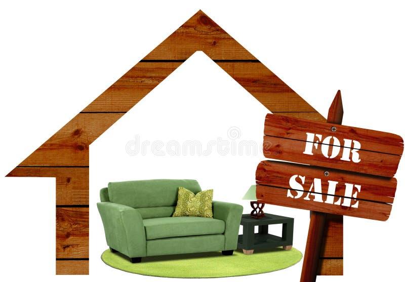 Meubilair voor verkoop stock afbeeldingen