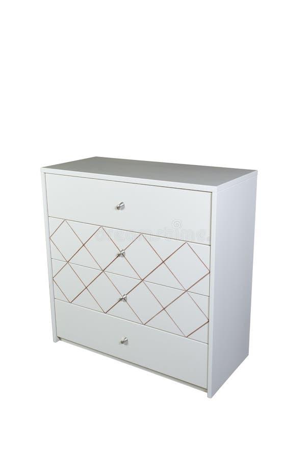 meubles Coffre des tiroirs en bois blanc photographie stock