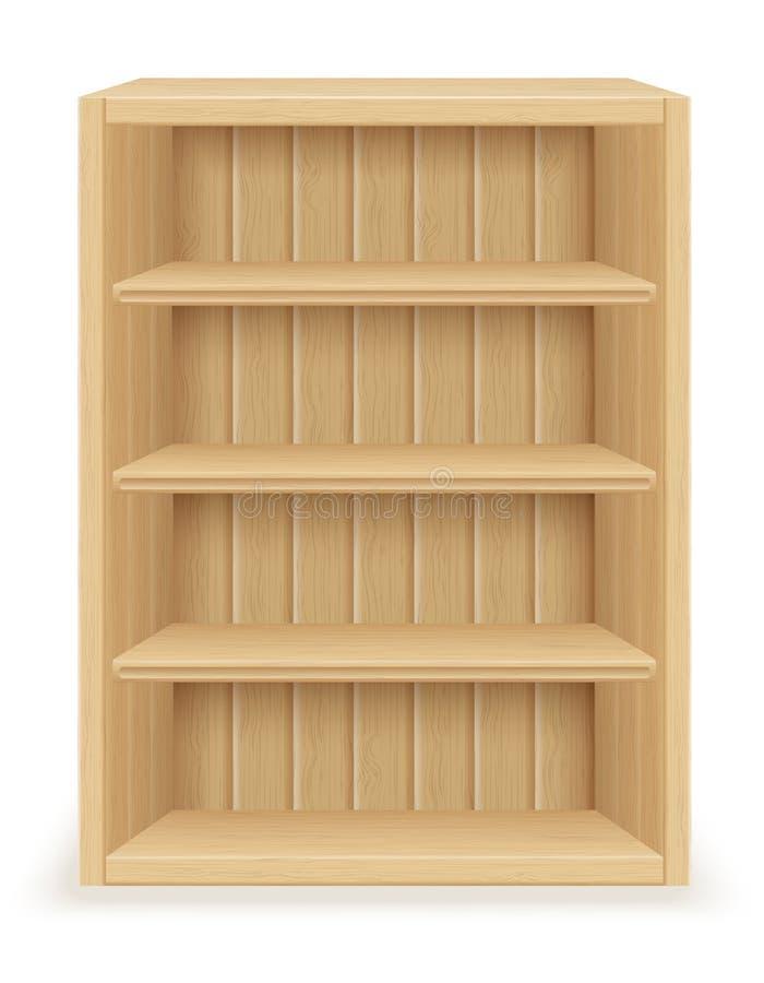 Meubles d'étagère faits en illustration du bois de vecteur illustration de vecteur