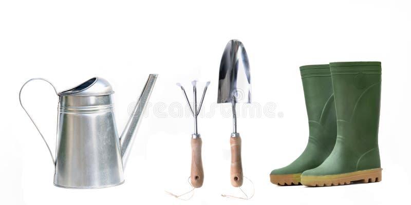 Meubles de jardinage d'isolement image stock