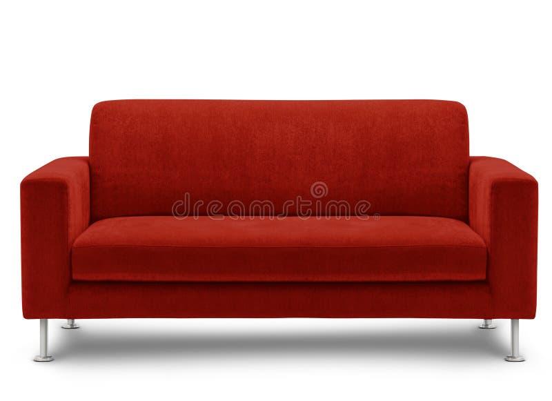 Meubles de sofa d'isolement sur le fond blanc photo libre de droits