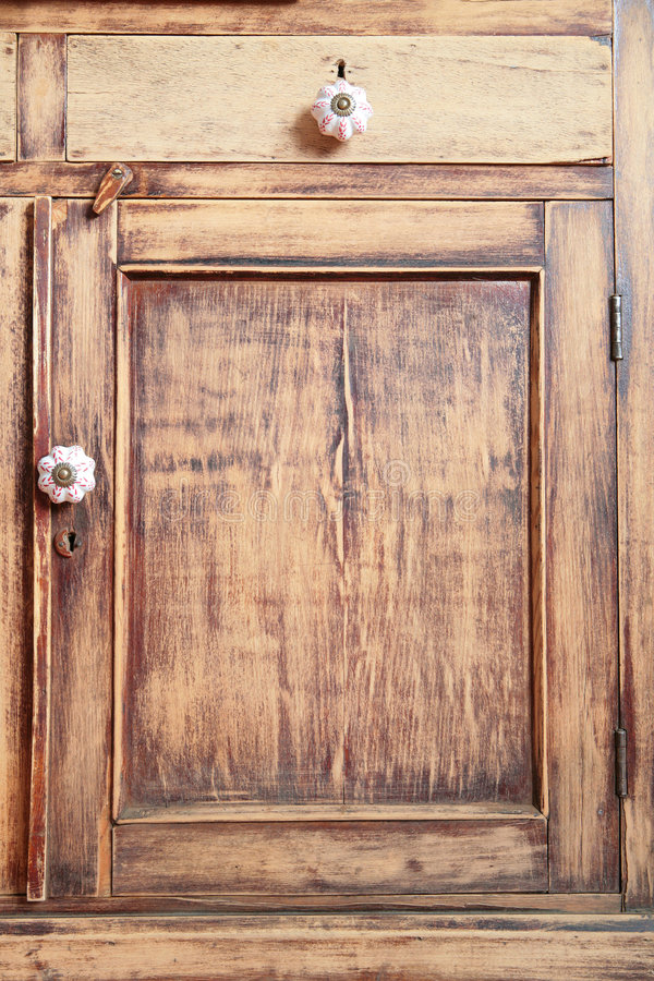 Meubles en bois antiques images stock
