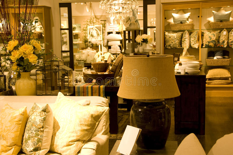 Meubles et magasin à la maison de décor image stock