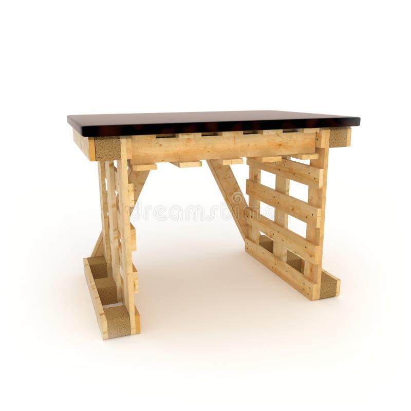 meubles faits avec les palettes en bois photo stock image 48702188. Black Bedroom Furniture Sets. Home Design Ideas