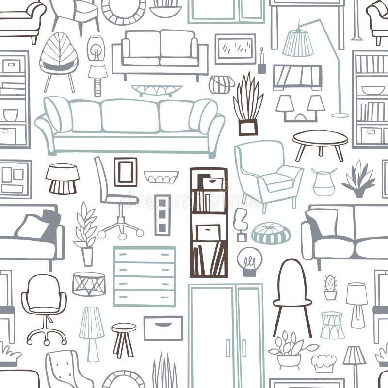 Meubles pour la maison Dirigez la configuration sans joint illustration stock
