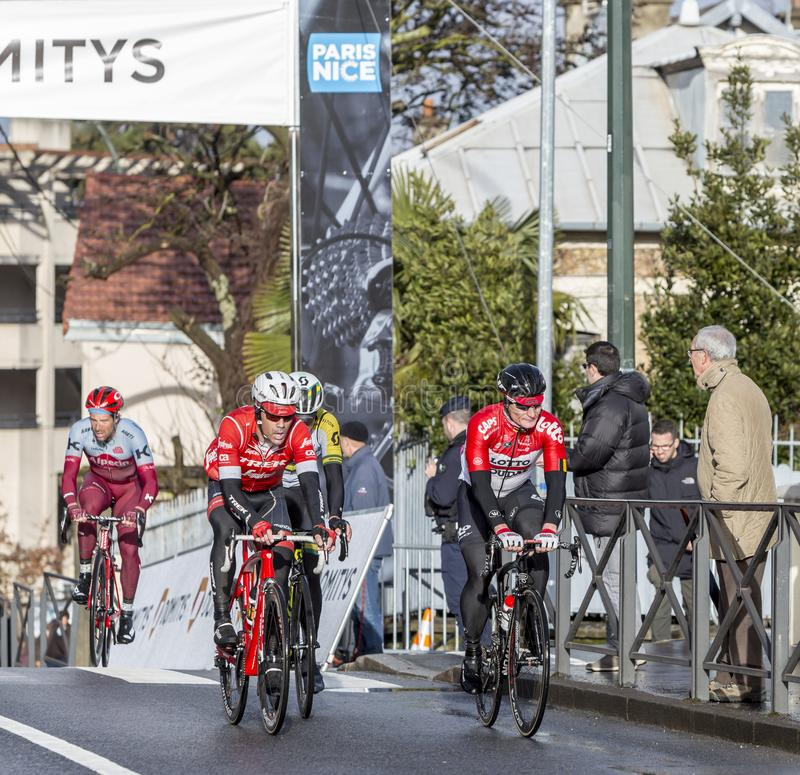 Grouppetto- Paris-Nice 2018 royalty free stock images