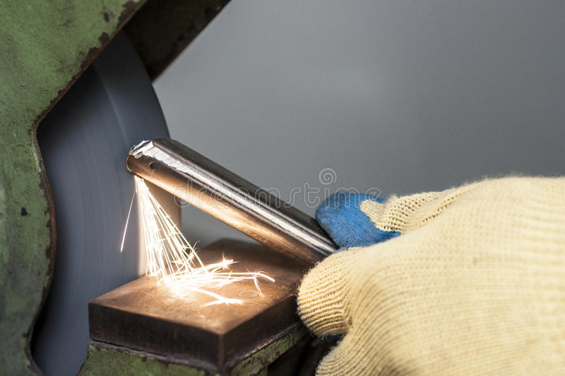 Meulage en métal photo stock