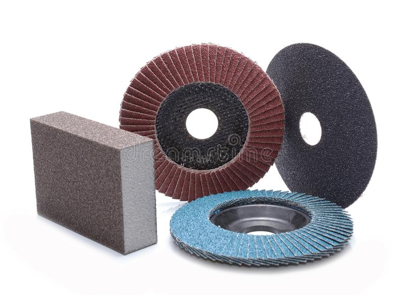 Meules abrasives photographie stock