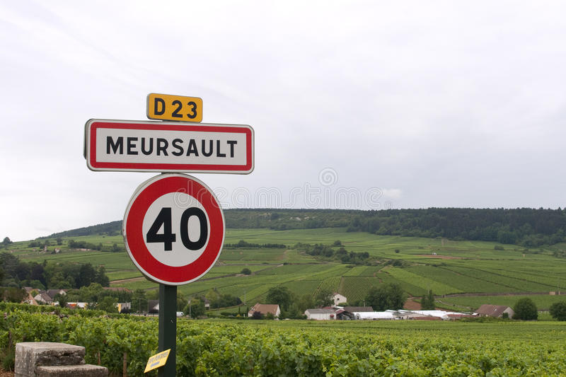 Meursault sign royalty free stock images