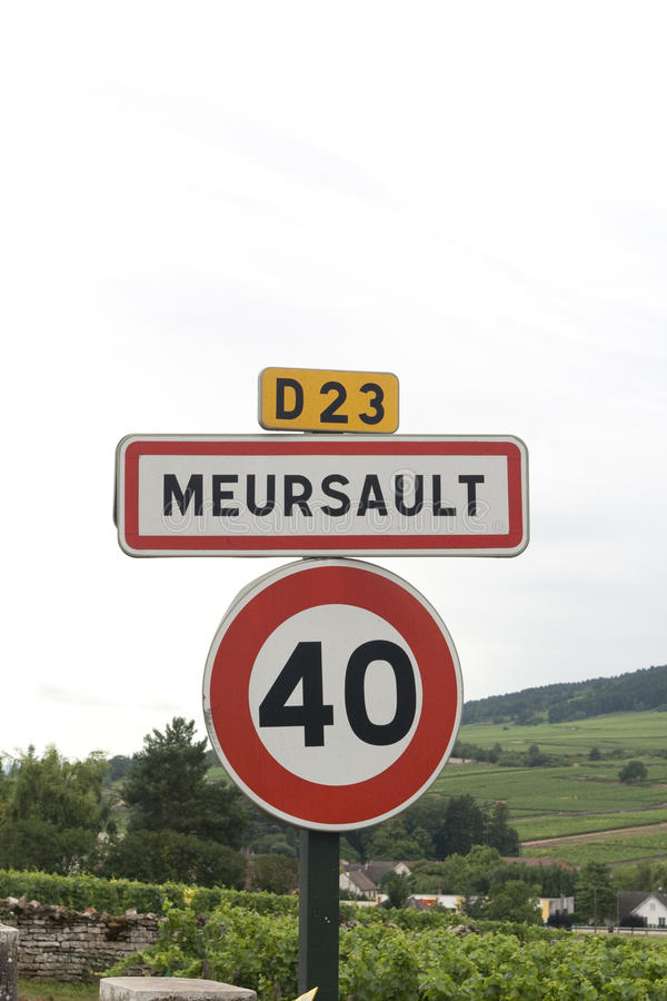 Meursault village sign royalty free stock images