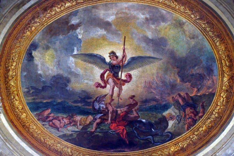 Meurtre de St Michael le dragon photos stock