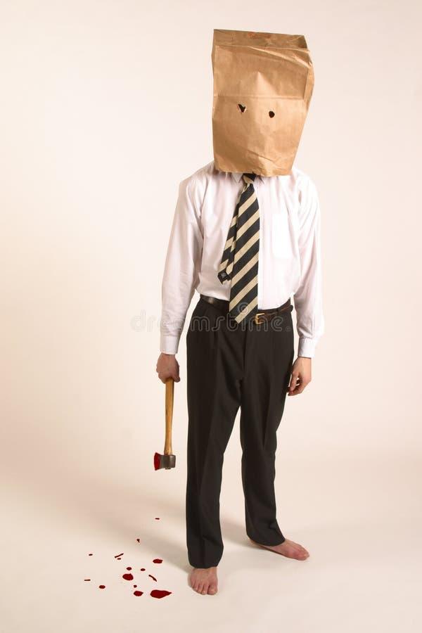 Meurtrier masqué image libre de droits