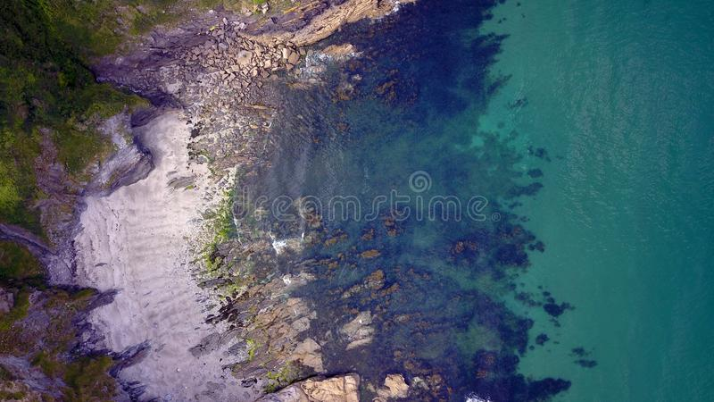 Mevagissey, Корнуолл - вид с воздуха стоковые изображения rf