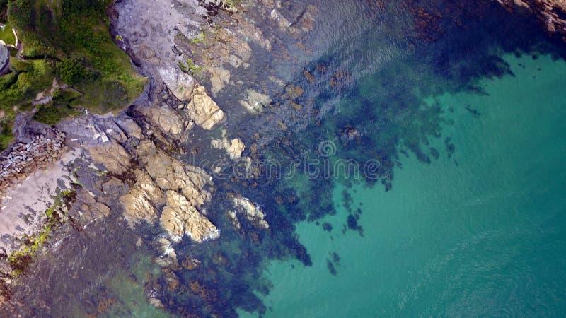 Mevagissey, Корнуолл - вид с воздуха стоковая фотография rf