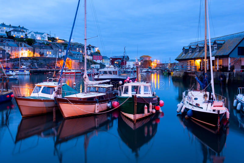 Download Mevagissey Cornwall stock image. Image of night, boat - 26453357