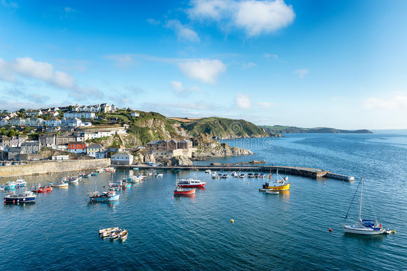 Mevagissey i Cornwall arkivbilder