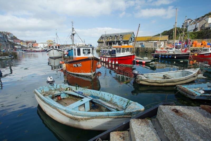 Mevagissey schronienie, Cornwall, Anglia zdjęcia royalty free