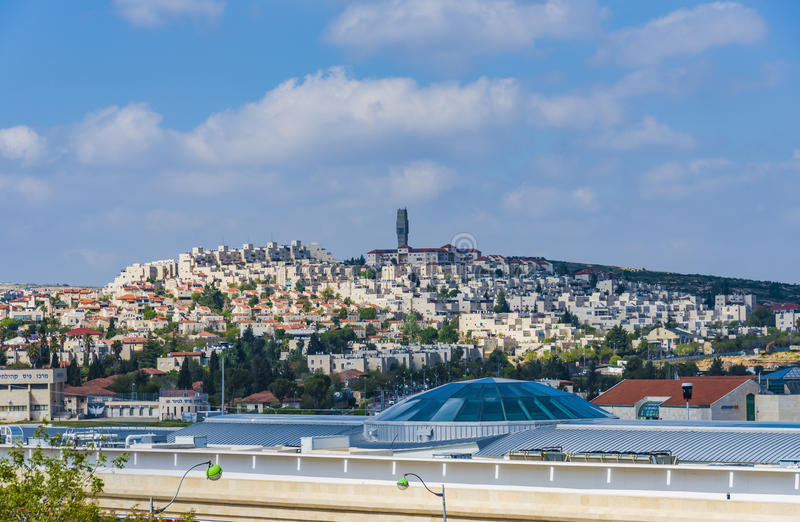 Mevaseret锡安耶路撒冷看法  免版税库存图片
