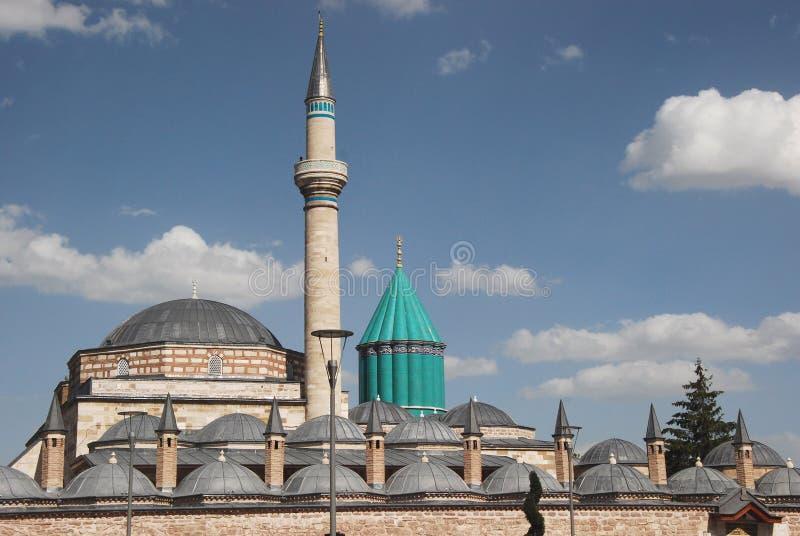 Konya – Mevlâna Müzesi and Mausoleum - Museum - Turkey. Konya – Selimiye Mosque and Mevlâna Müzesi (museum) and Mausoleum - place of royalty free stock images