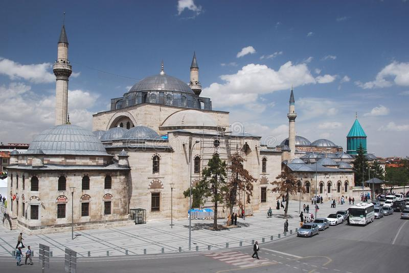 Mevlânamã zesi ¼ en Mausoleum - Selimiye-Moskee - Konya - royalty-vrije stock afbeeldingen