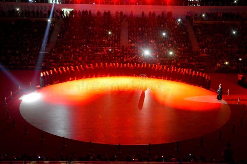 Mevlana-Derwische, die Zeremonie tanzen lizenzfreie stockfotografie