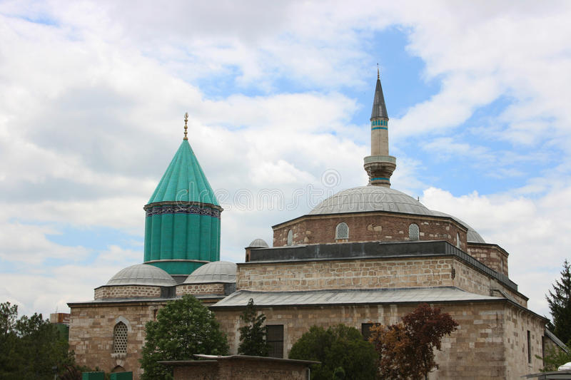 Mevlana Museum,Konya. The Mevlâna museum, located in Konya, Turkey, is the mausoleum of Jalal ad-Din Muhammad Rumi, a Sufi mystic also known as Mevlâna or stock images