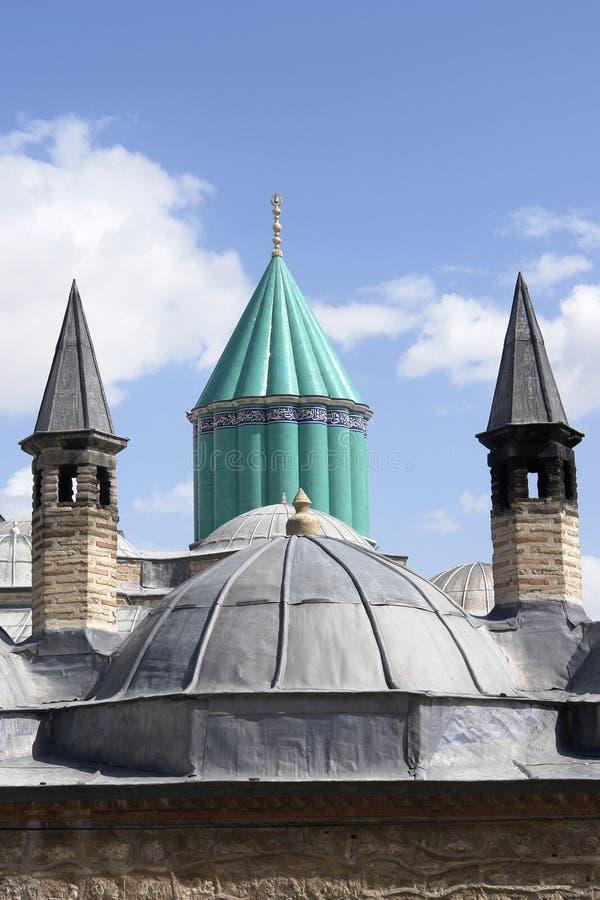 Mevlana museum in Konya Turkey. Domes view royalty free stock photos