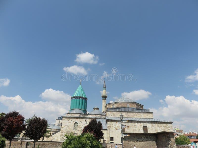 Mevlanamuseum en graf, Konya, Turkije stock afbeeldingen