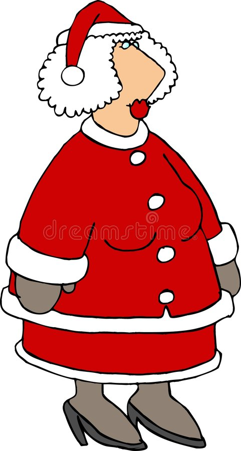 Download Mevr. Claus stock illustratie. Afbeelding bestaande uit beeldverhaal - 41327
