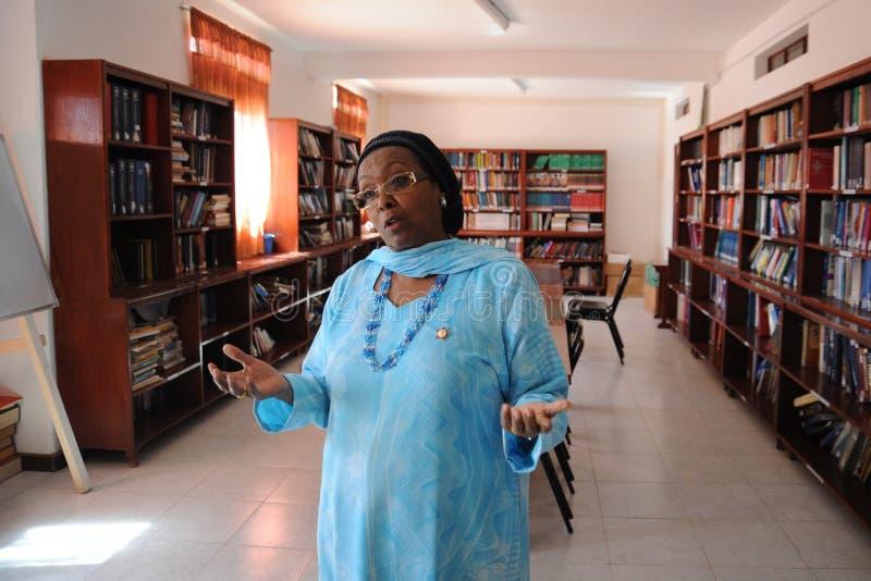 mevr. Edna Adan Ismail-het ziekenhuisdirecteur stock afbeeldingen
