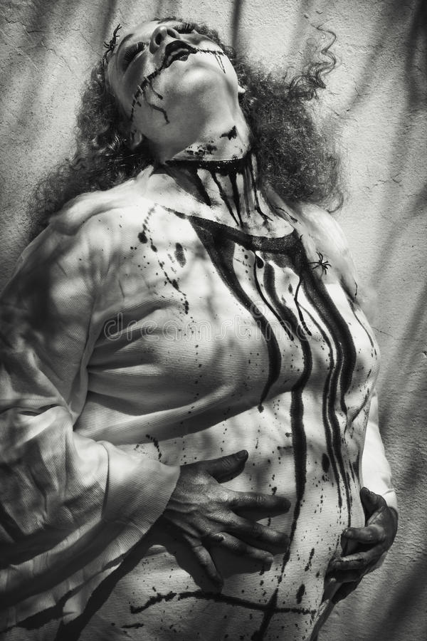 mevr. Frankenstein is Zwanger royalty-vrije stock foto's