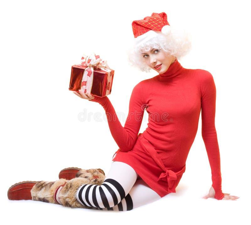Mevr. Santa royalty-vrije stock foto