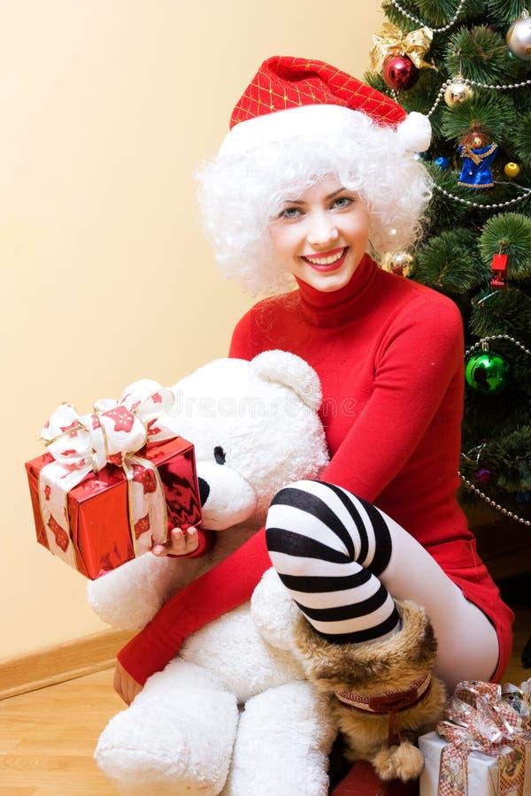 Mevr. Santa stock afbeelding