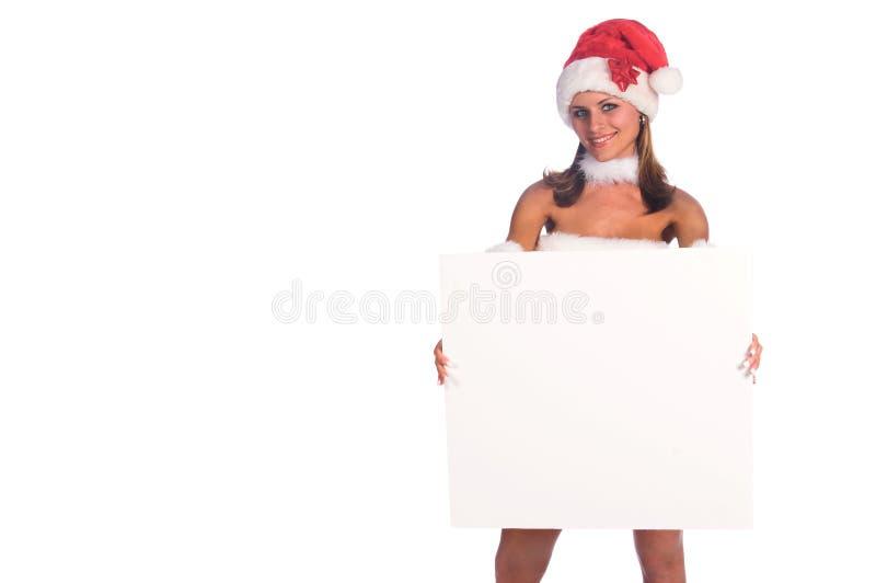 Mevr. Santa Blank Sign stock foto