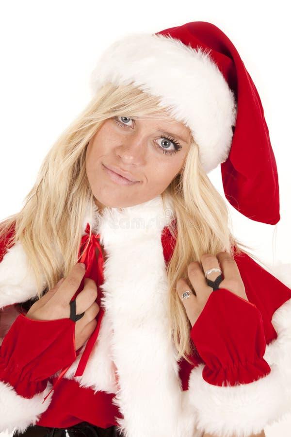 Mevr. Santa sluit gelukkig stock foto's