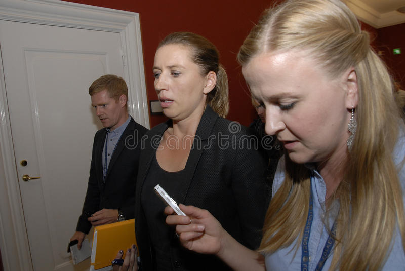 MEVROUW METTE FREDERIKSEN_LEADER VAN SOCIAAL-DEMOCRAAT royalty-vrije stock foto