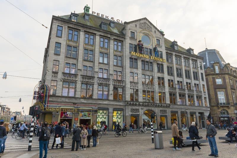 Mevrouw Tussauds Amsterdam stock fotografie