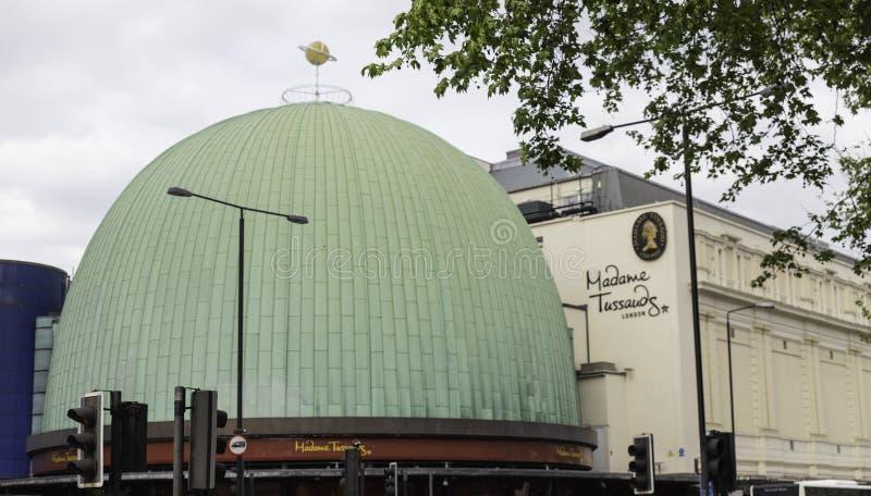Mevrouw Tussauds-inzameling - Londen stock afbeelding