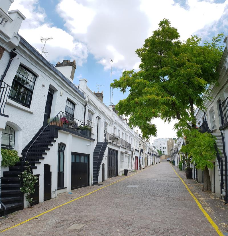 Notting Hill mews in London royalty free stock photography