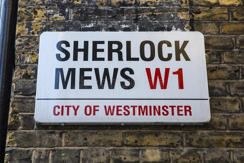 Mews Sherlock στο Λονδίνο στοκ εικόνα με δικαίωμα ελεύθερης χρήσης