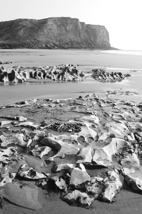 Mewsladebaai, Gower Peninsula, Swansea, Wales royalty-vrije stock foto