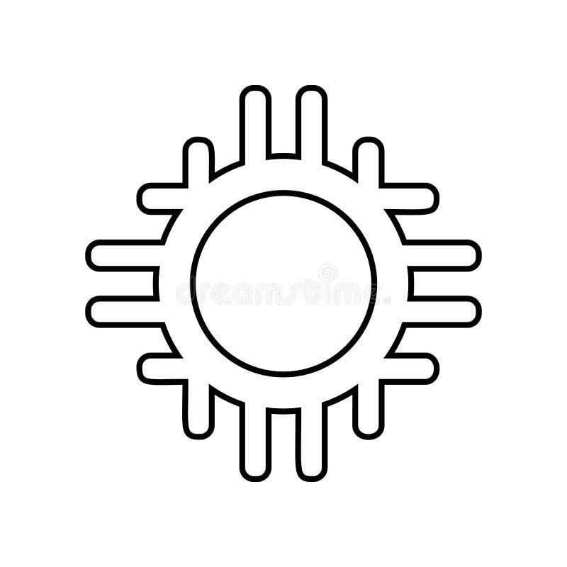 Mexicaans cirkelpictogram Element van Mexico voor mobiel concept en webtoepassingenpictogram Overzicht, dun lijnpictogram voor we royalty-vrije illustratie