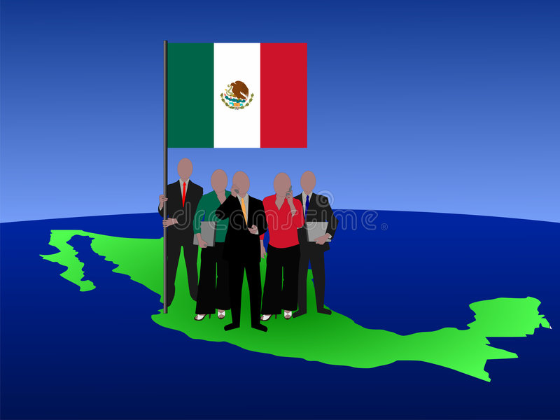 Mexicaans commercieel team stock illustratie