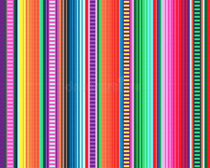 Mexicaans dekenpatroon serape strepenvector stock afbeeldingen