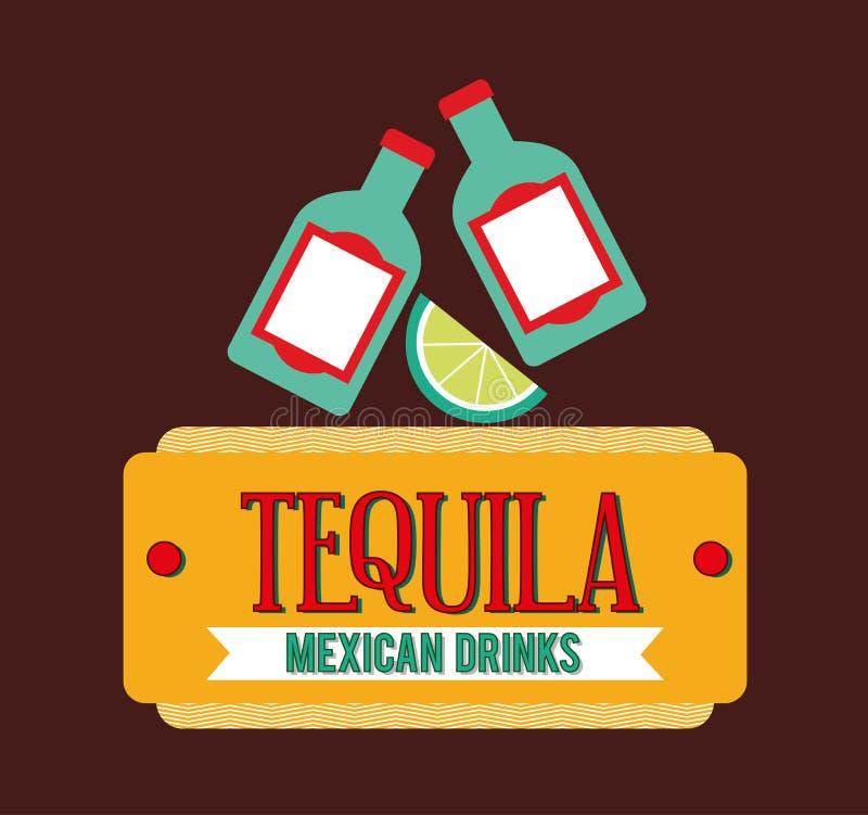 Mexicaans drankenontwerp vector illustratie