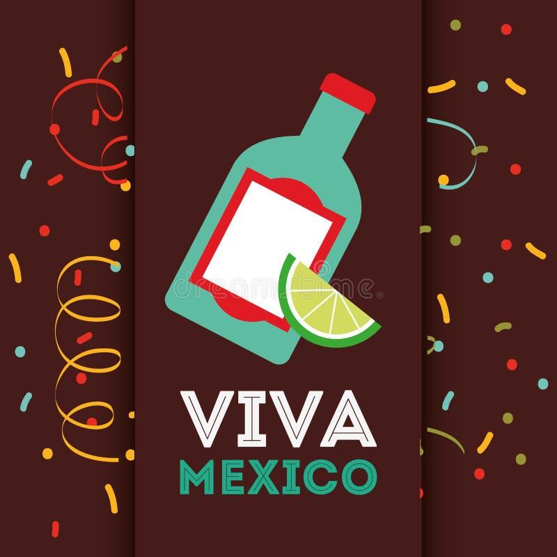 Mexicaans drankenontwerp royalty-vrije illustratie