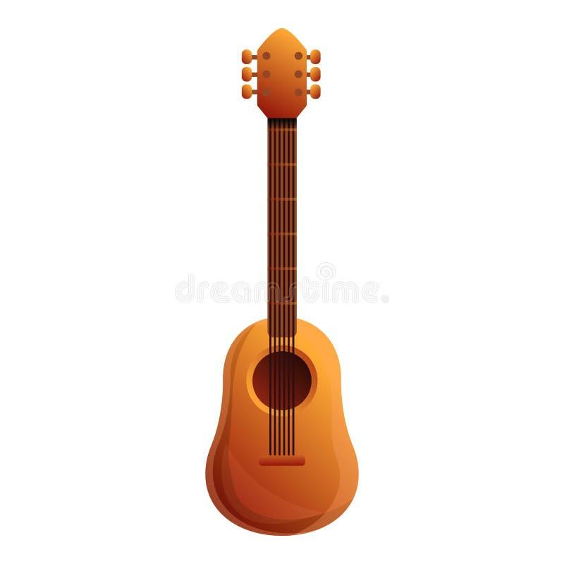 Mexicaans gitaarpictogram, beeldverhaalstijl stock illustratie