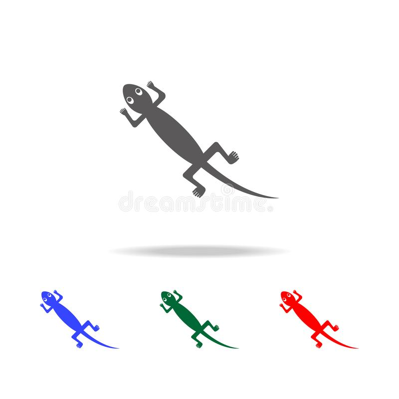 Mexicaans hagedispictogram Elementen van cultuur van de multi gekleurde pictogrammen van Mexico Grafisch het ontwerppictogram van stock illustratie
