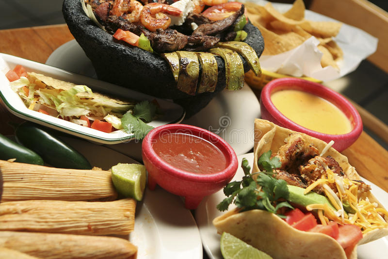 Mexicaans Horizontaal Voedsel - stock foto's